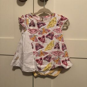 Burt's Bee Baby Size 6-9mons Butterfly Dress GUC